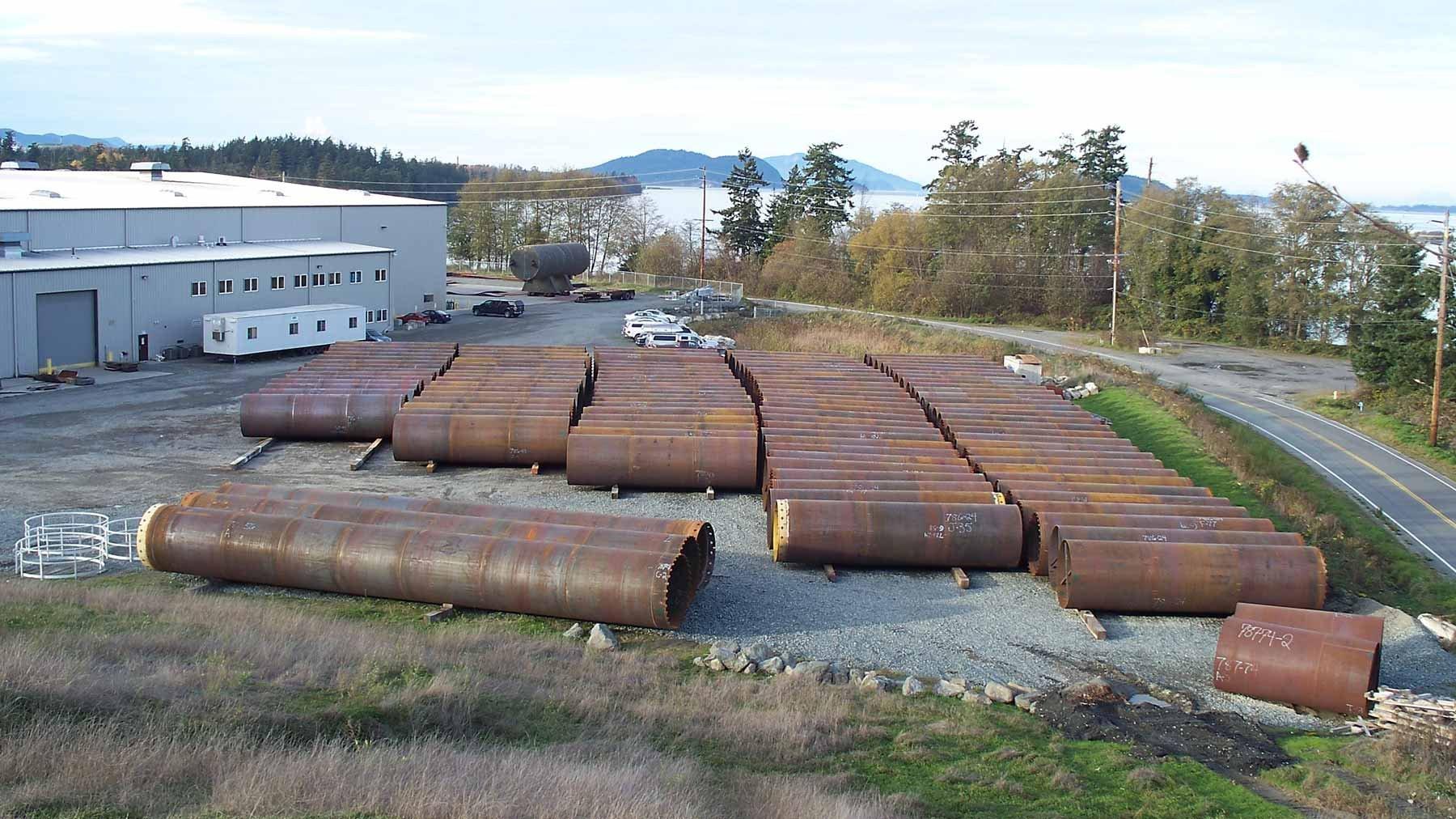 Steel pipe piling
